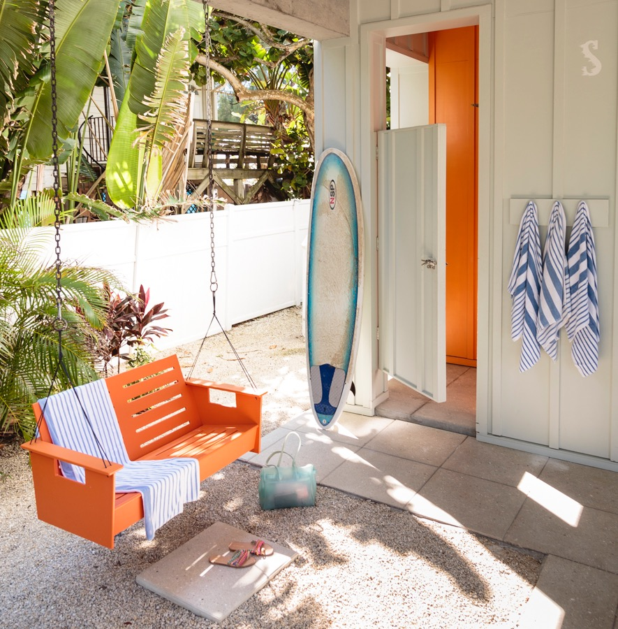 Florida Front Porch with Orange Swing