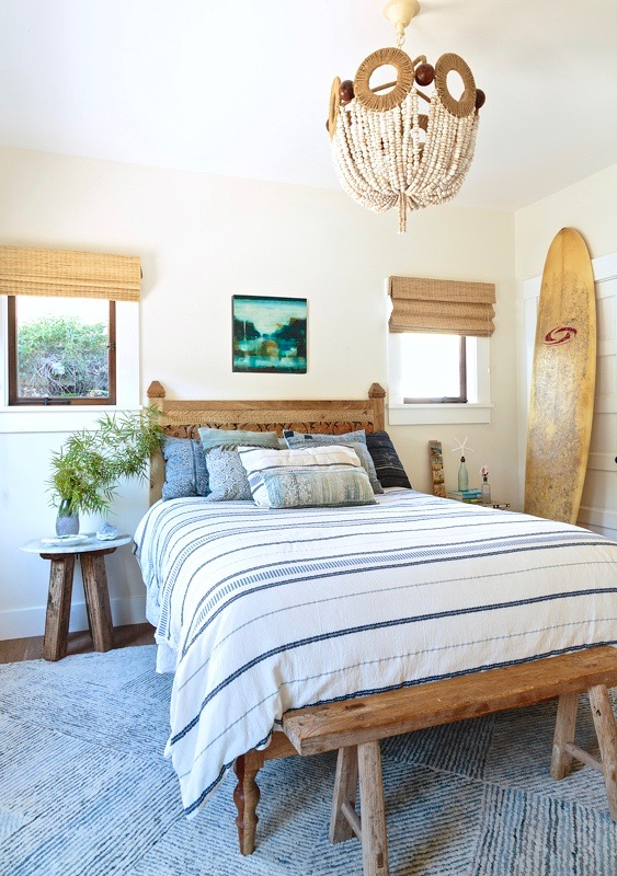 Coastal Style Bedroom with Boho Chic Decor