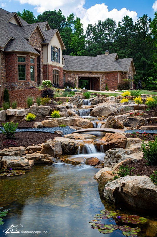 Expansive Waterfall at the Georgia Home of Shaquille O'Neill
