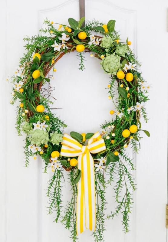 Artichoke Lemon Wreath by Sand and Sisal