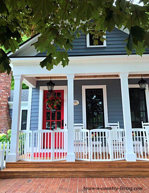 Blue Historic Home in Saugatuck, Michigan