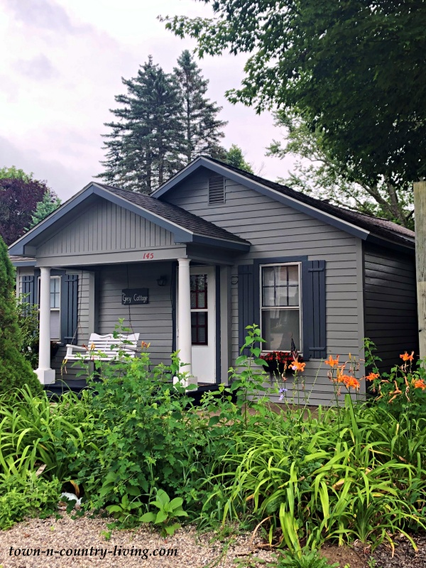 Small Gray Lakefront Cottage