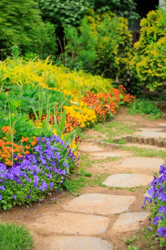 Stepping Stone Flower Garden Path