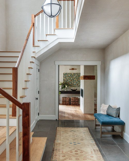 Entryway with Turning Staircase