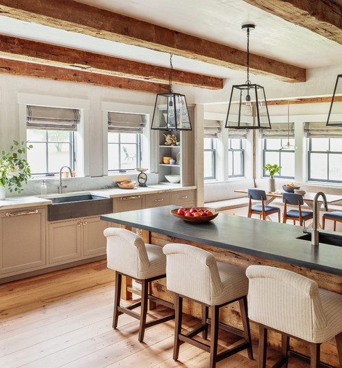 Modern Farmhouse Kitchen in the Berkshire Mountains