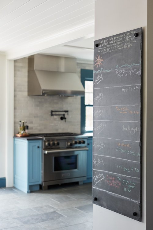 Chalkboard leading into farmhouse style kitchen of the week