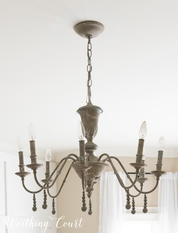 Chandelier Makeover by Worthing Court