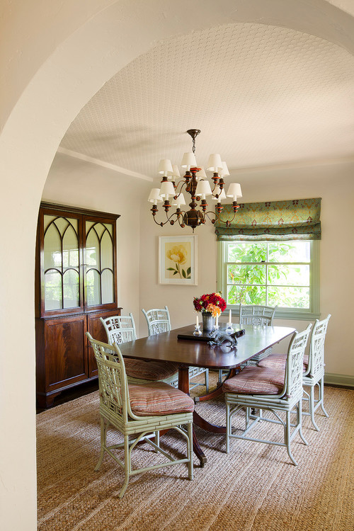 Mediterranean Style Dining Room in California Home