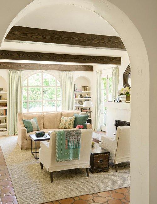 Spanish Colonnial Style Living Room in Santa Monica