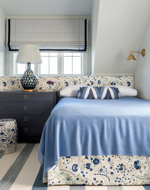 Beach Style Bedroom in Varying Shades of Blue