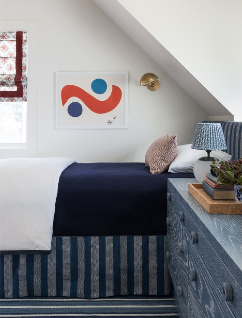 Children's Bedroom in Red White and Blue