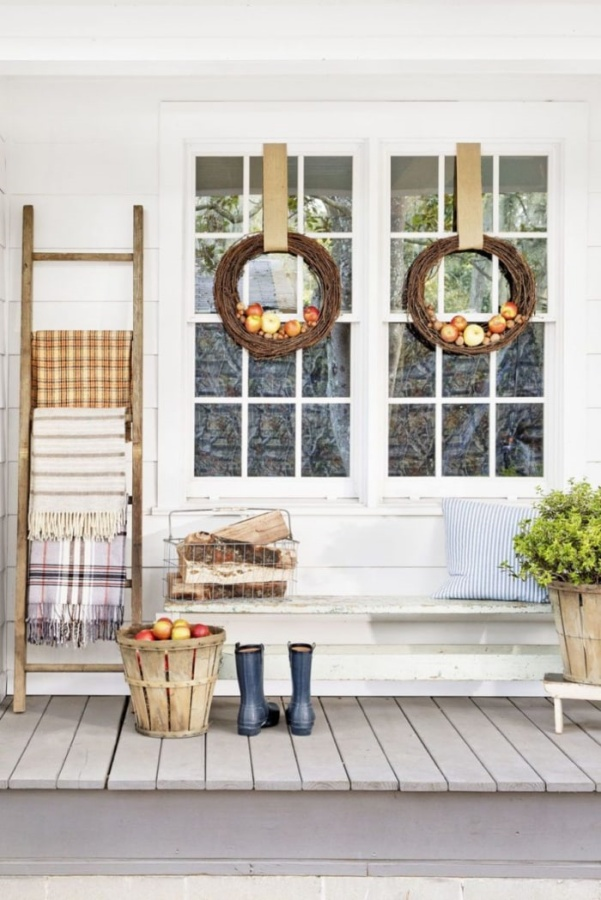 Fall Porch by Fox Hollow Cottage