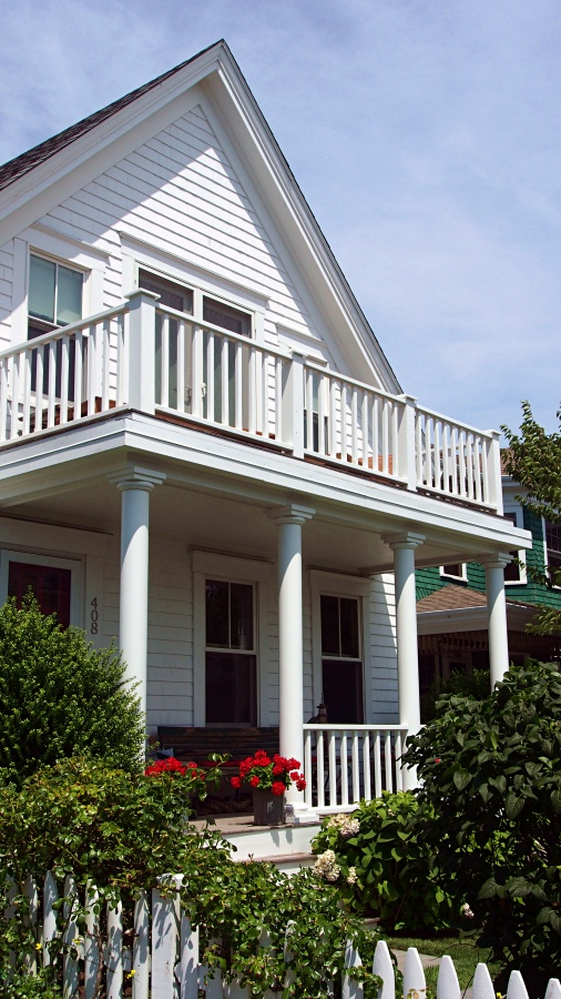 White House with Double Decker Porch