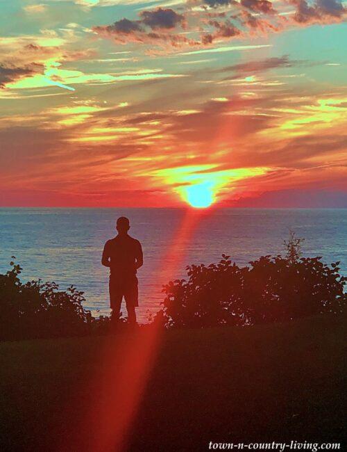 Sunset on Lake Michigan Near Saugatuck