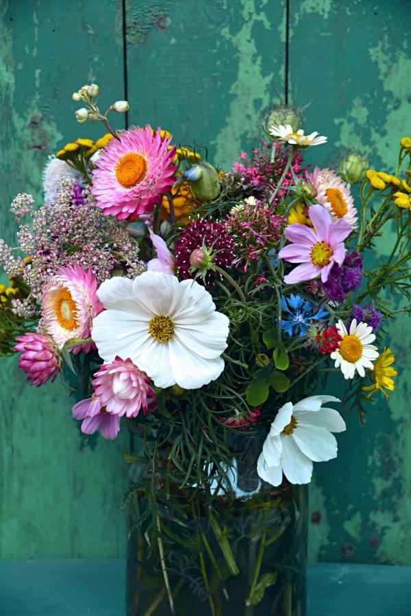 Rustic Flower Arrangement with Cosmos