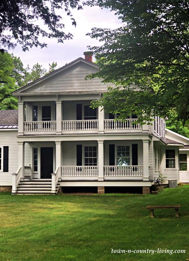 Older and Elegant White Farmhouse on Lake Michigan