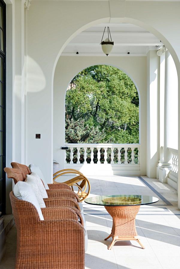 White Mediterranean Style Porch