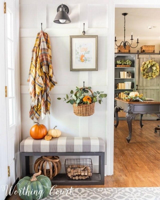 Fall Entryway by Worthing Court