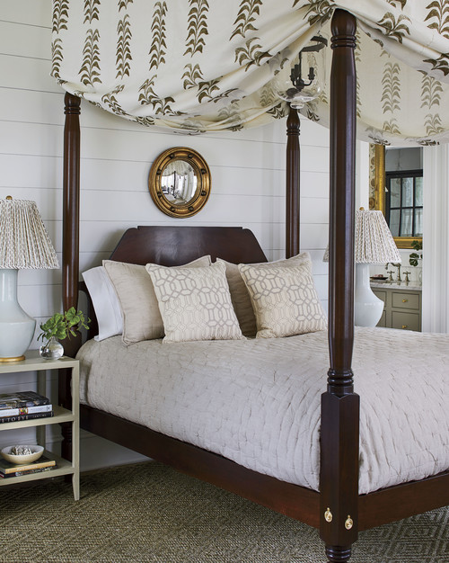 Neutral Plantation Style Master Bedroom