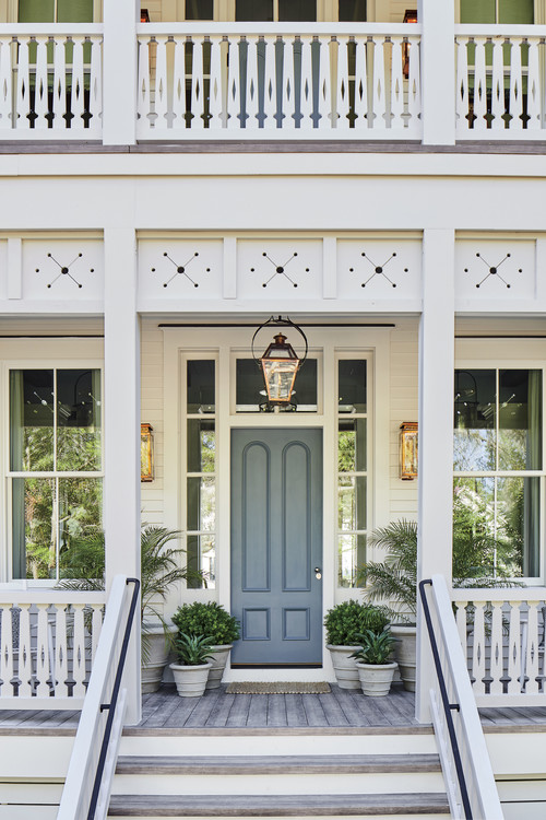 Gorgeous Southern Living Idea Home - Porch with Blue Front Door