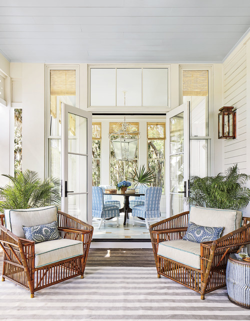 Beach Style Sun Room in Southern Living Idea House