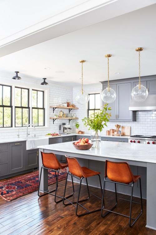 Gray and White Modern Farmhouse Kitchen