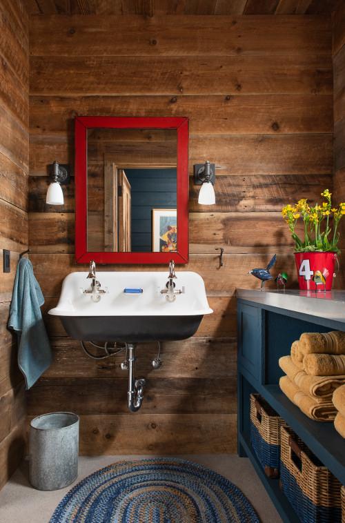 Vintage Style Rustic Bathroom