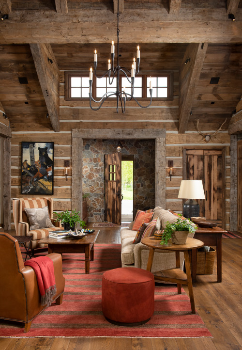Rustic Mountain House Living Room