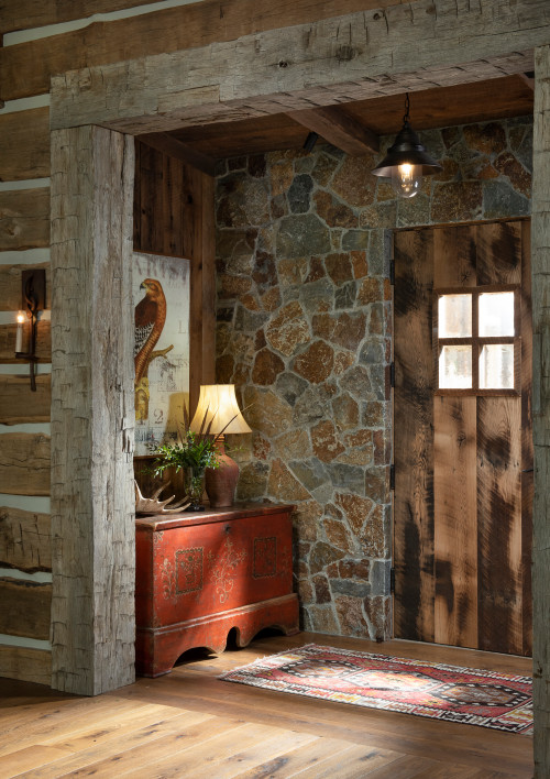 Rustic Mountain House Entryway