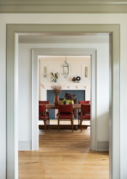 Entryway into Traditional Dining Room