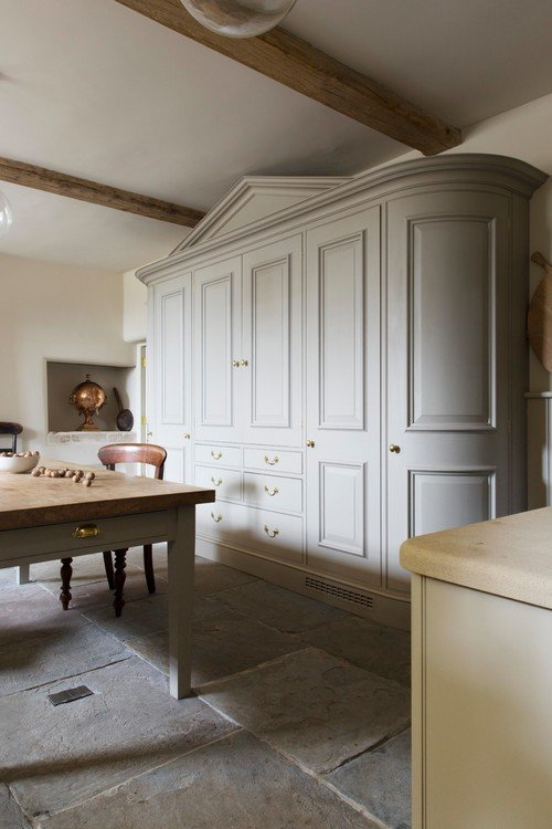 Gorgeous Custom Cabinet in Old World London Kitchen