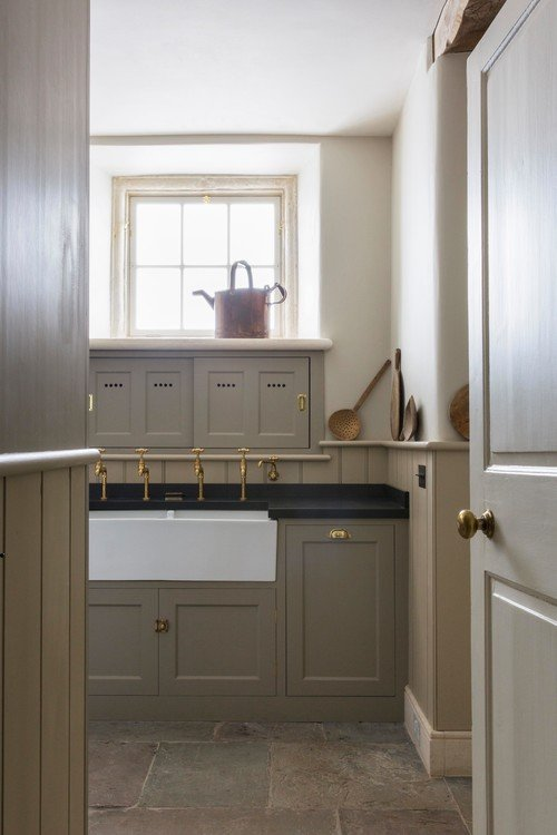 London Kitchen and Scullery in Cream Tones