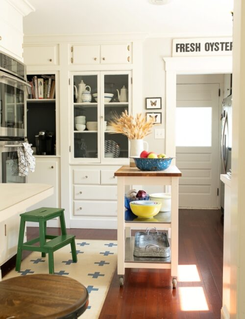 Coastal Kitchen in White and Wood