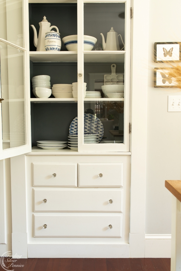 Built-In Kitchen Hutch Painted White