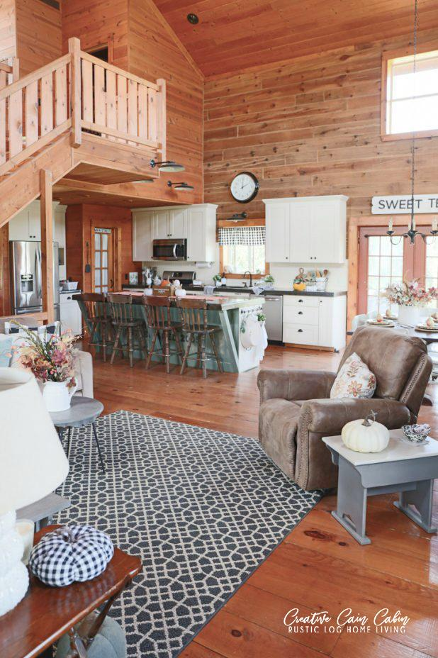 Open Concept Living in Michigan Cabin