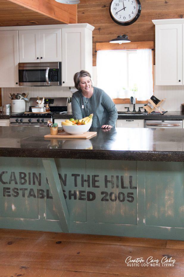 Dawn in Her Kitchen at Creative Cain Cabin