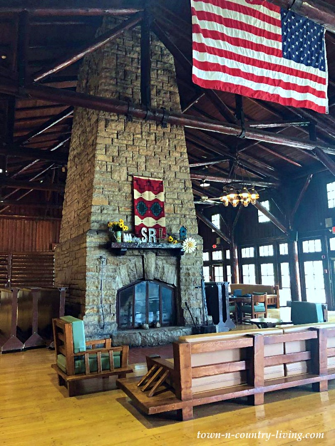 Indoor Fireplace at Starved Rock Lodge