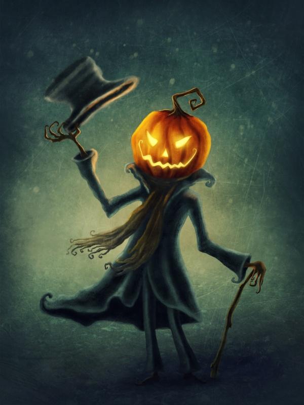 Pumpkin Head Man Halloween Printable