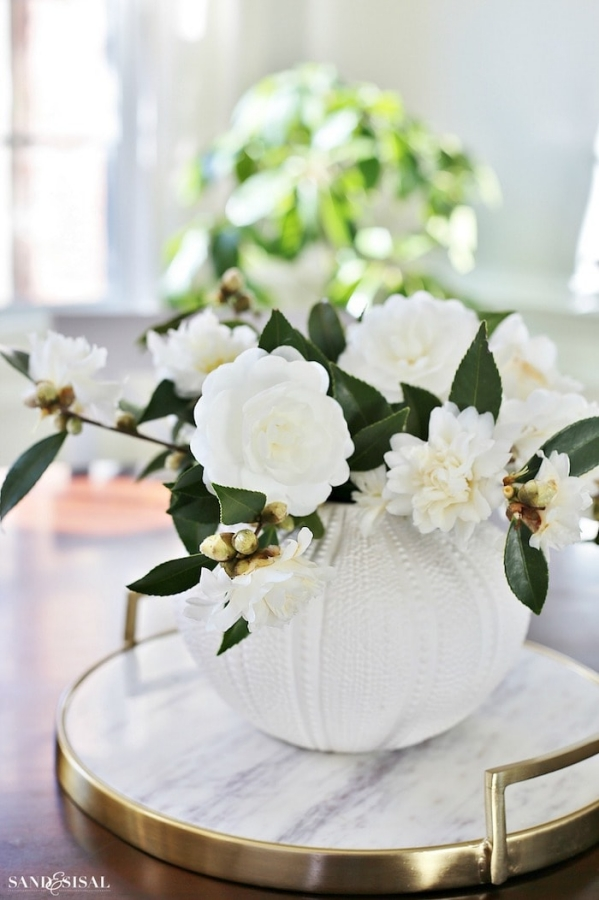 Camellias by Sand and Sisal