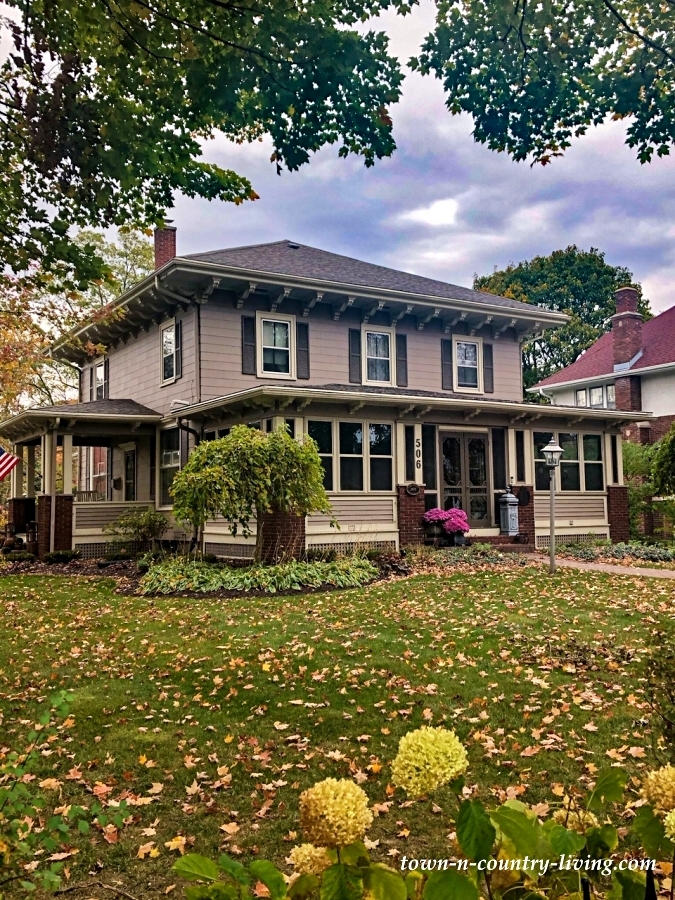 Classic American Home on a Fall Day in Wisconsin