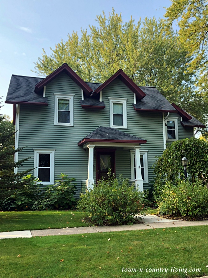 Green Historic Clapboard Home in Wisconsin