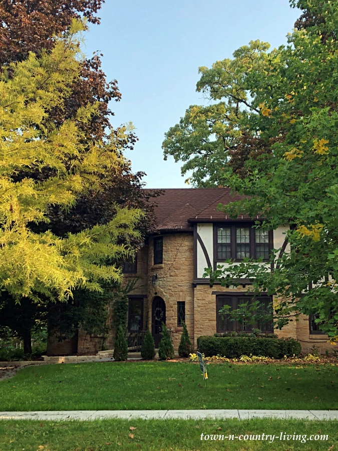 Tudor Style Home with Stone and Stucco