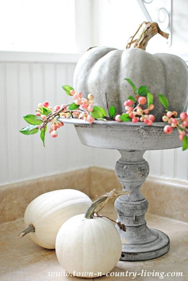 Fall Decor with Pumpkins