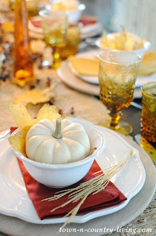 Fall Table Setting by Town and Country Living