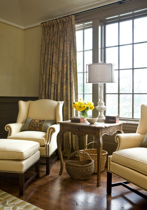 Pair of Wing Chairs in Bedroom Sitting Area