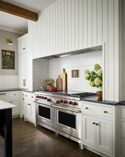 Cooking and Baking Nook in Country Style Kitchen