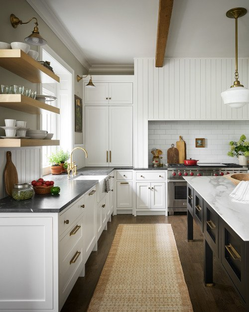 Expansive Kitchen in White and Black