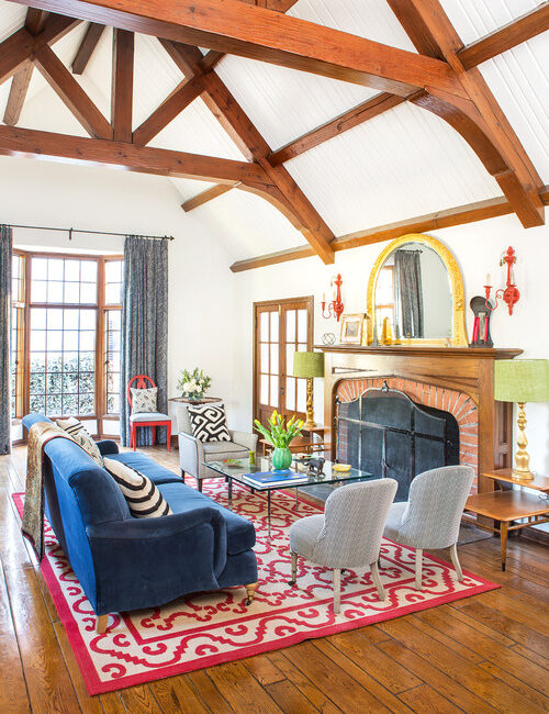 Colorful French Country Living Room