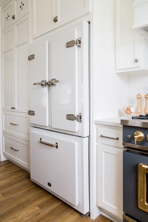 White Vintage Refrigerator