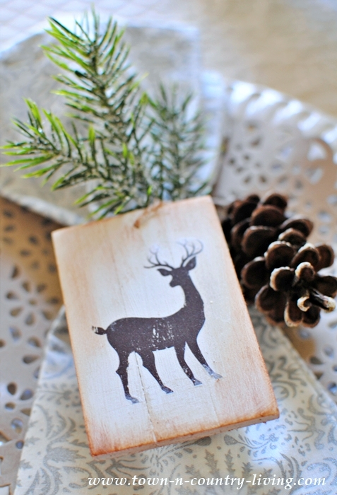 DIY Wooden Christmas Ornaments with Free Printable